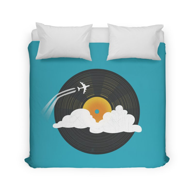Sunburst Records Home Duvet by Dianne Delahunty's Artist Shop