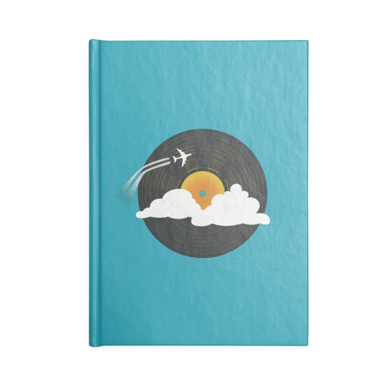 Sunburst Records Accessories Notebook by Dianne Delahunty's Artist Shop