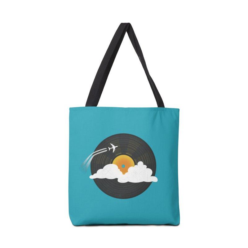 Sunburst Records Accessories Bag by Dianne Delahunty's Artist Shop