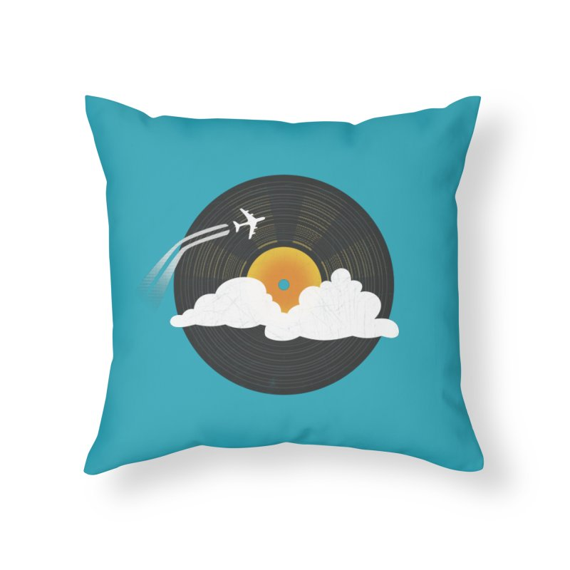 Sunburst Records Home Throw Pillow by Dianne Delahunty's Artist Shop