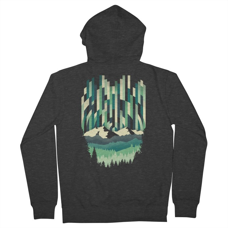 Sunrise in Vertical Men's French Terry Zip-Up Hoody by Dianne Delahunty's Artist Shop