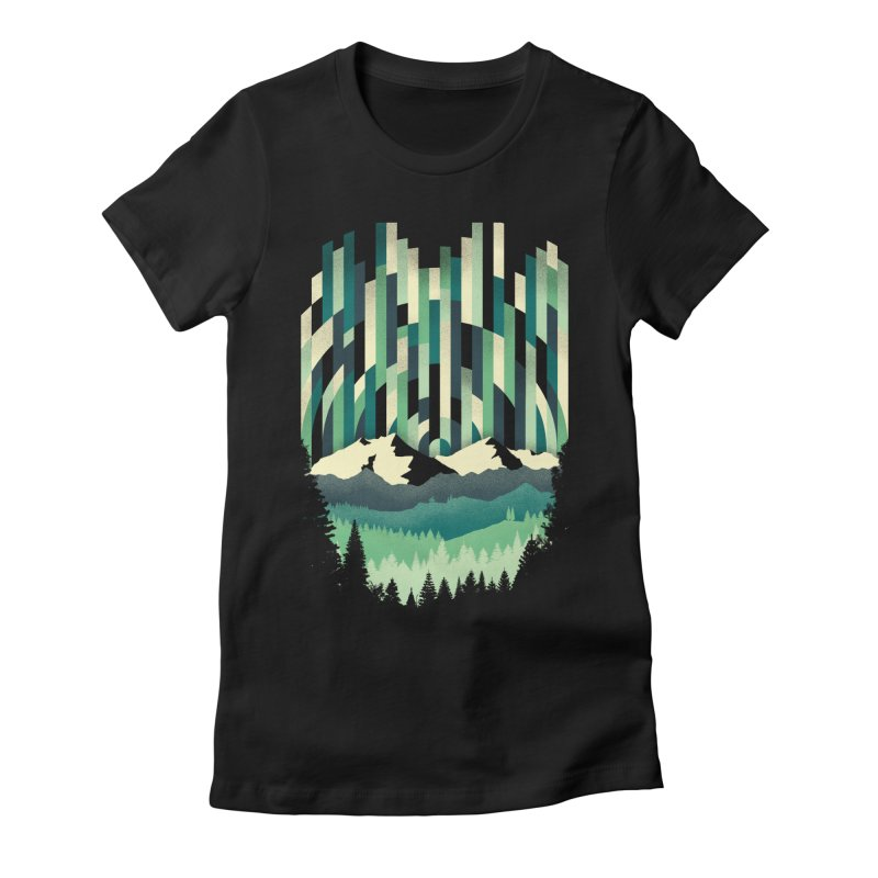 Sunrise in Vertical Women's Fitted T-Shirt by Dianne Delahunty's Artist Shop