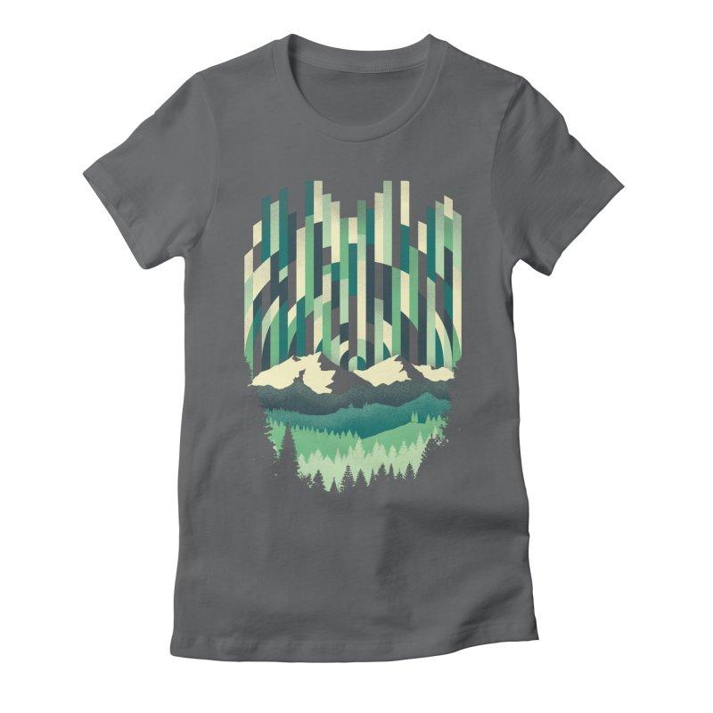 Sunrise in Vertical Women's Fitted T-Shirt by Dianne Delahunty's Artist Shop