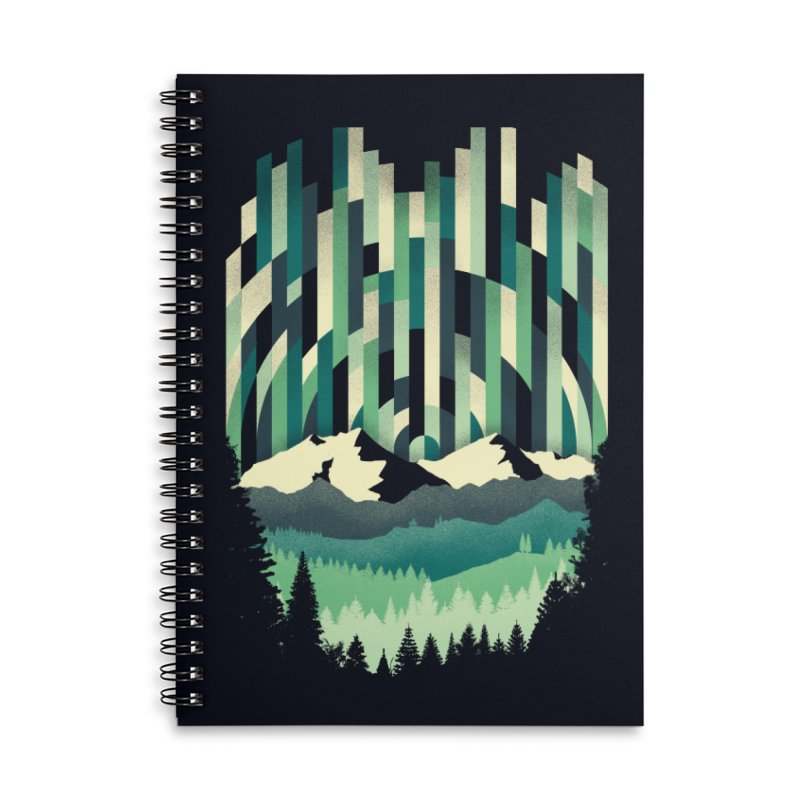Sunrise in Vertical Accessories Lined Spiral Notebook by Dianne Delahunty's Artist Shop