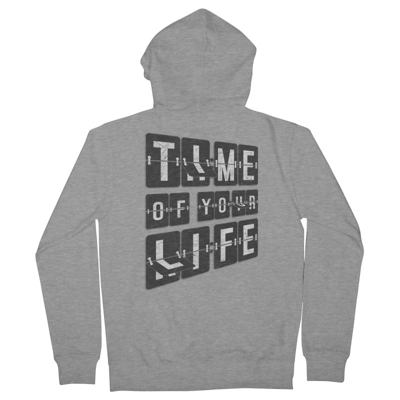 Time Men's Zip-Up Hoody by Dianne Delahunty's Artist Shop