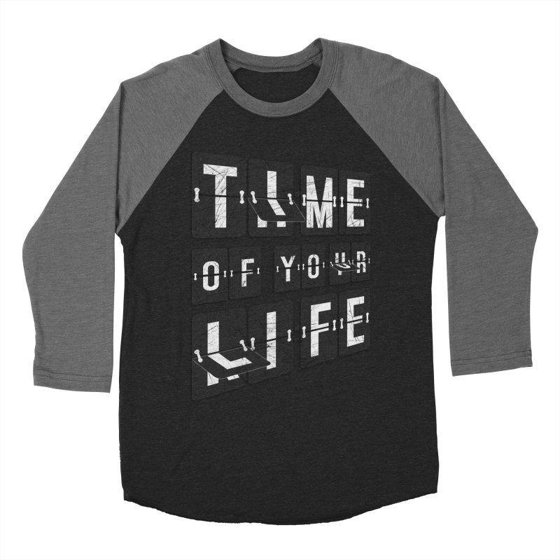 Time Men's Baseball Triblend T-Shirt by Dianne Delahunty's Artist Shop