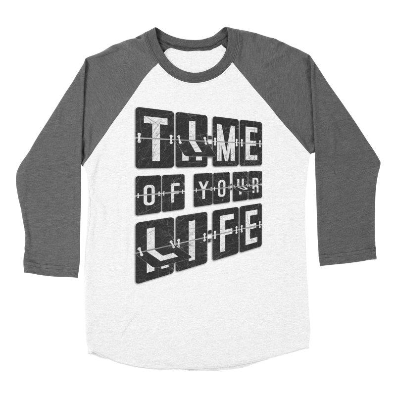 Time Men's Baseball Triblend Longsleeve T-Shirt by Dianne Delahunty's Artist Shop