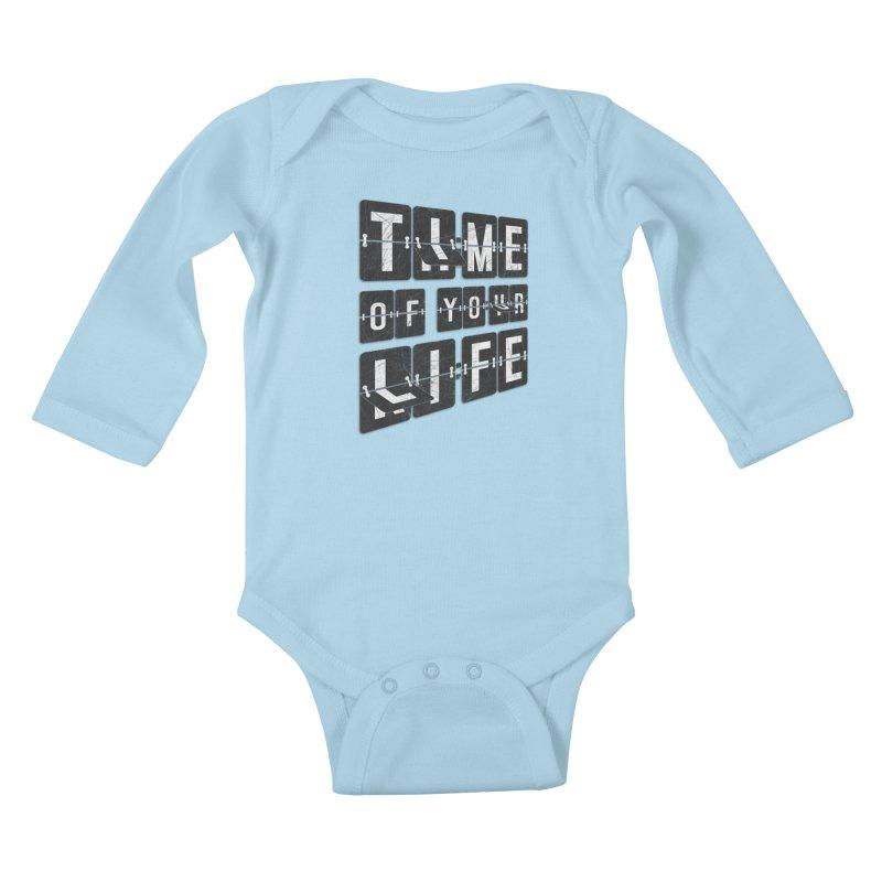 Time Kids Baby Longsleeve Bodysuit by Dianne Delahunty's Artist Shop