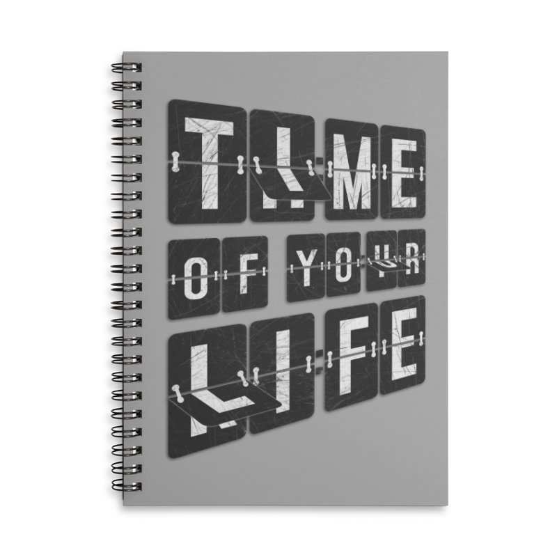 Time Accessories Lined Spiral Notebook by Dianne Delahunty's Artist Shop
