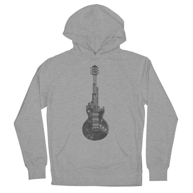 We Built This City Men's French Terry Pullover Hoody by Dianne Delahunty's Artist Shop