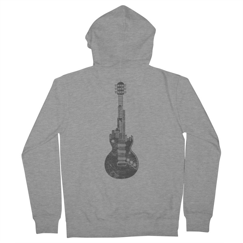 We Built This City Men's French Terry Zip-Up Hoody by Dianne Delahunty's Artist Shop