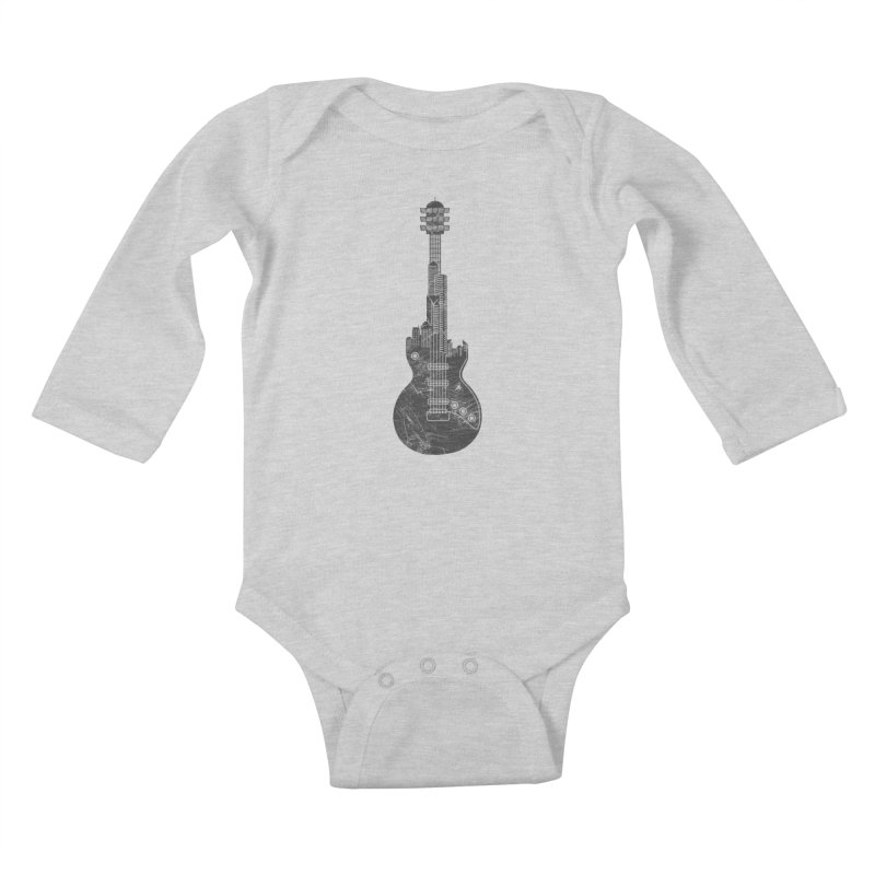 We Built This City Kids Baby Longsleeve Bodysuit by Dianne Delahunty's Artist Shop