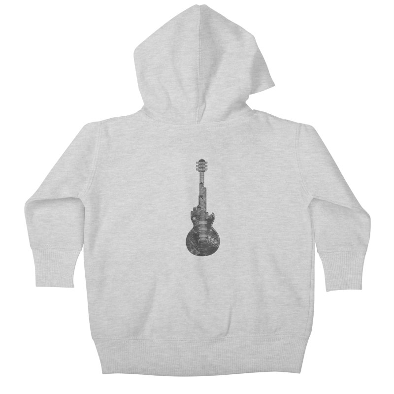 We Built This City Kids Baby Zip-Up Hoody by Dianne Delahunty's Artist Shop