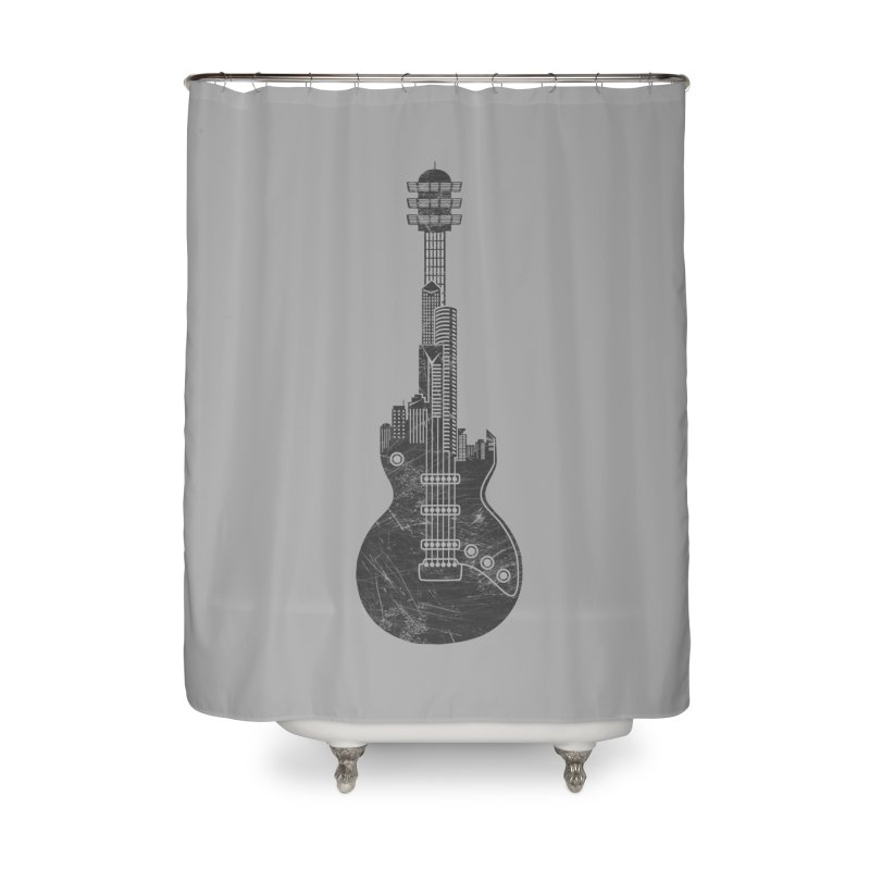 We Built This City Home Shower Curtain by Dianne Delahunty's Artist Shop