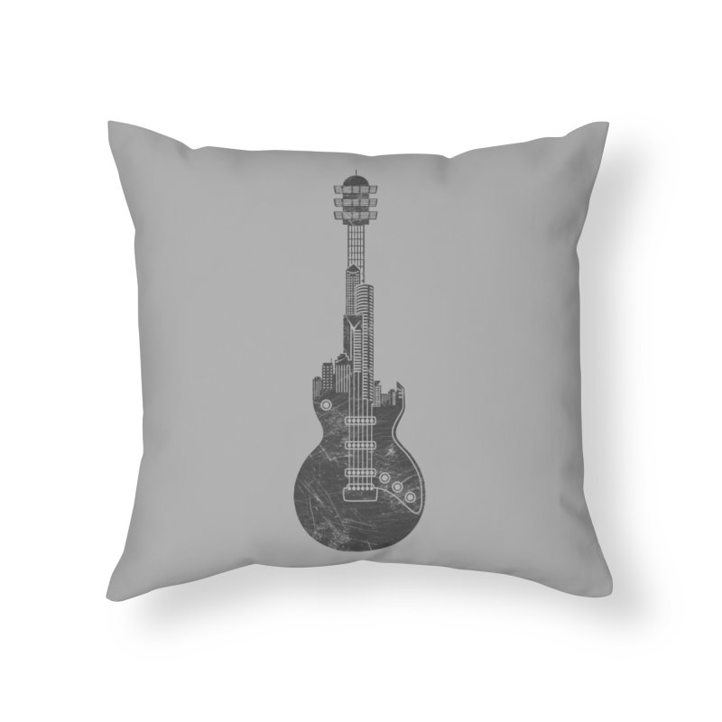 We Built This City Home Throw Pillow by Dianne Delahunty's Artist Shop