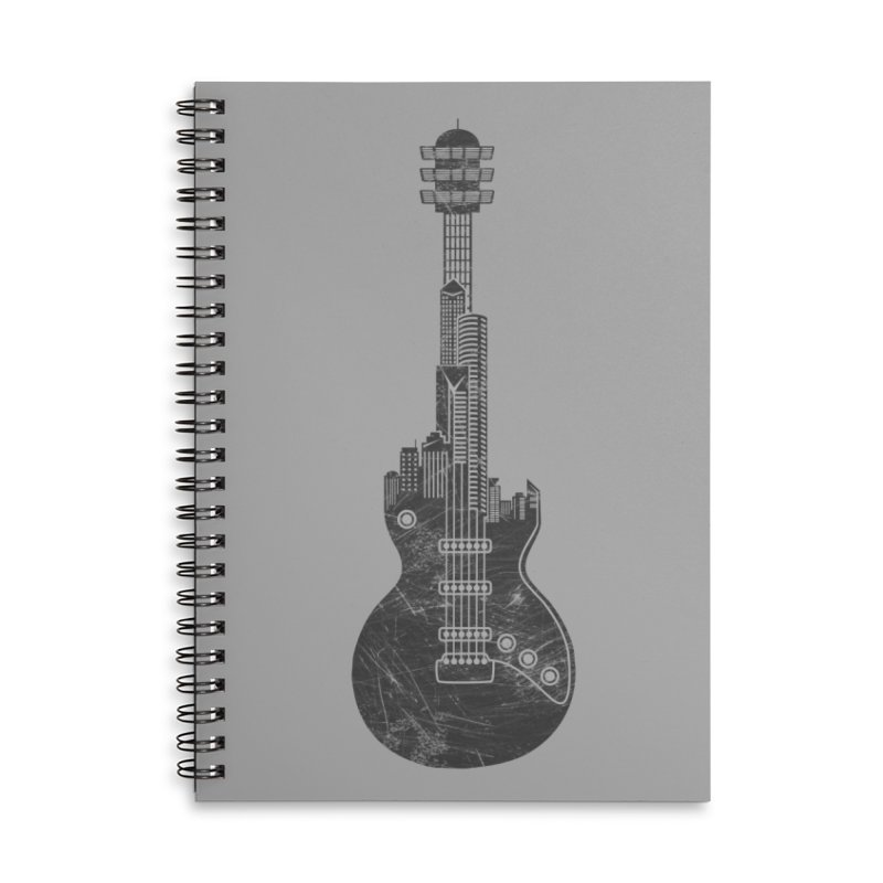 We Built This City Accessories Lined Spiral Notebook by Dianne Delahunty's Artist Shop