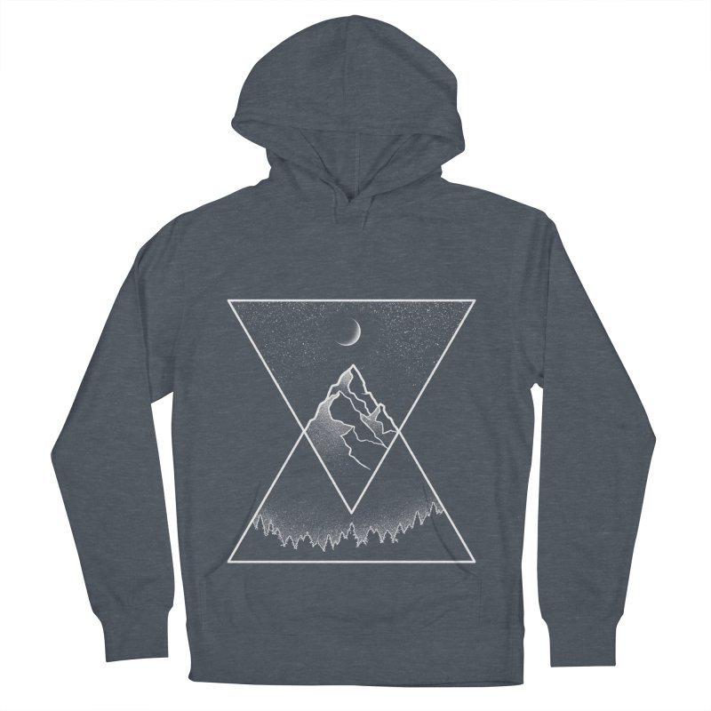 Pyramidal Peaks Women's French Terry Pullover Hoody by Dianne Delahunty's Artist Shop