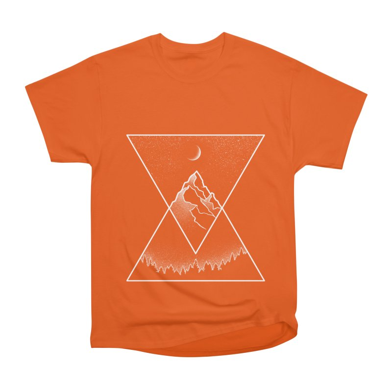Pyramidal Peaks Men's Heavyweight T-Shirt by Dianne Delahunty's Artist Shop