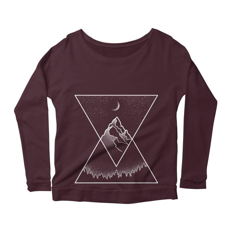 Pyramidal Peaks Women's Longsleeve Scoopneck  by Dianne Delahunty's Artist Shop