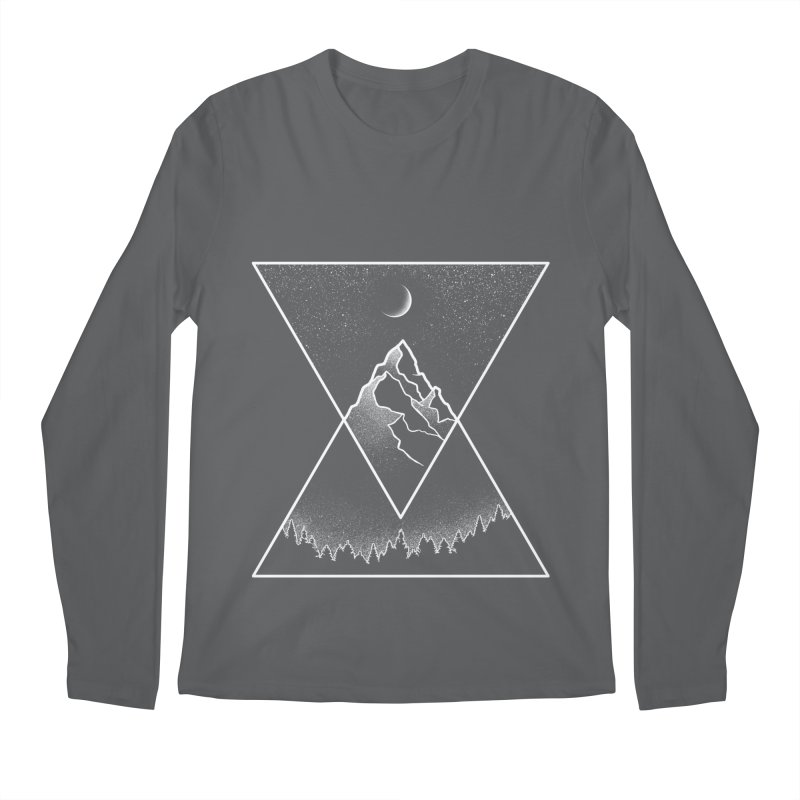 Pyramidal Peaks Men's Regular Longsleeve T-Shirt by Dianne Delahunty's Artist Shop