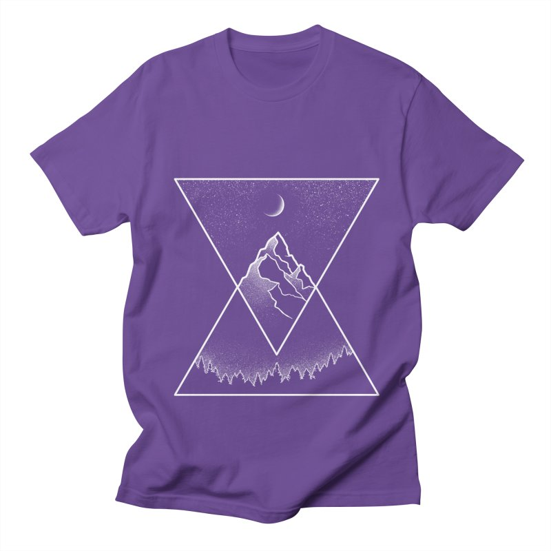 Pyramidal Peaks Men's T-Shirt by Dianne Delahunty's Artist Shop