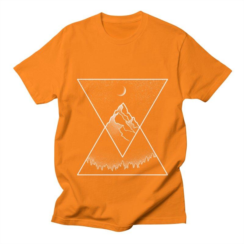 Pyramidal Peaks Men's Regular T-Shirt by Dianne Delahunty's Artist Shop