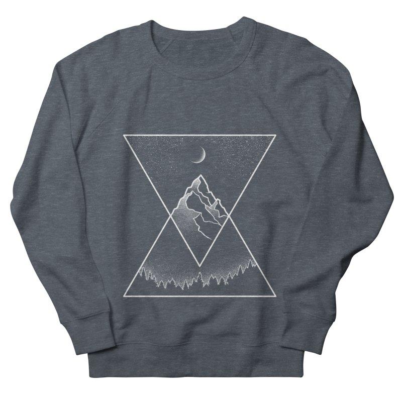 Pyramidal Peaks Men's French Terry Sweatshirt by Dianne Delahunty's Artist Shop