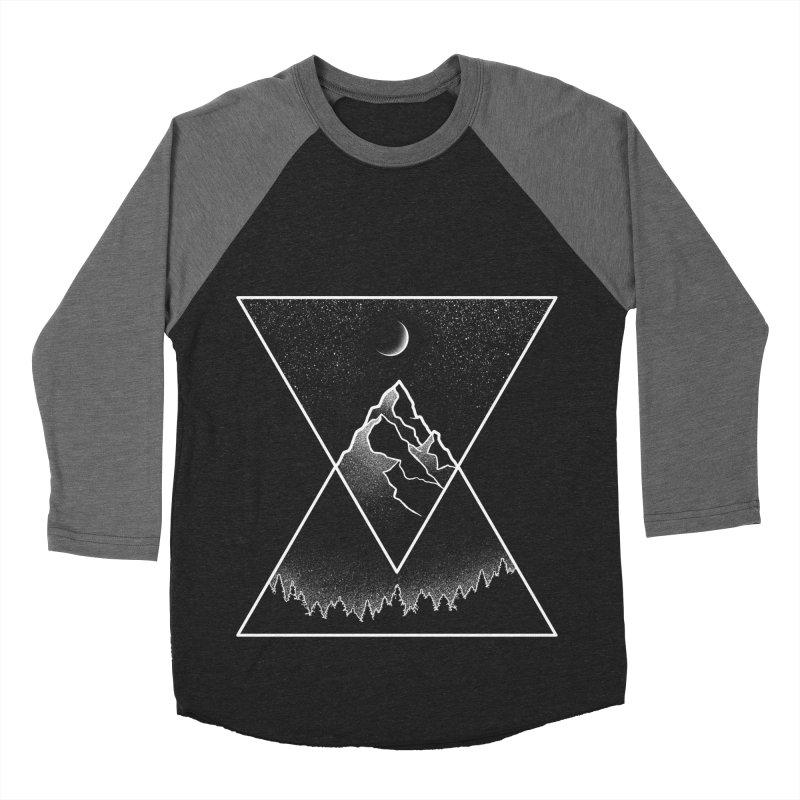 Pyramidal Peaks Men's Baseball Triblend T-Shirt by Dianne Delahunty's Artist Shop