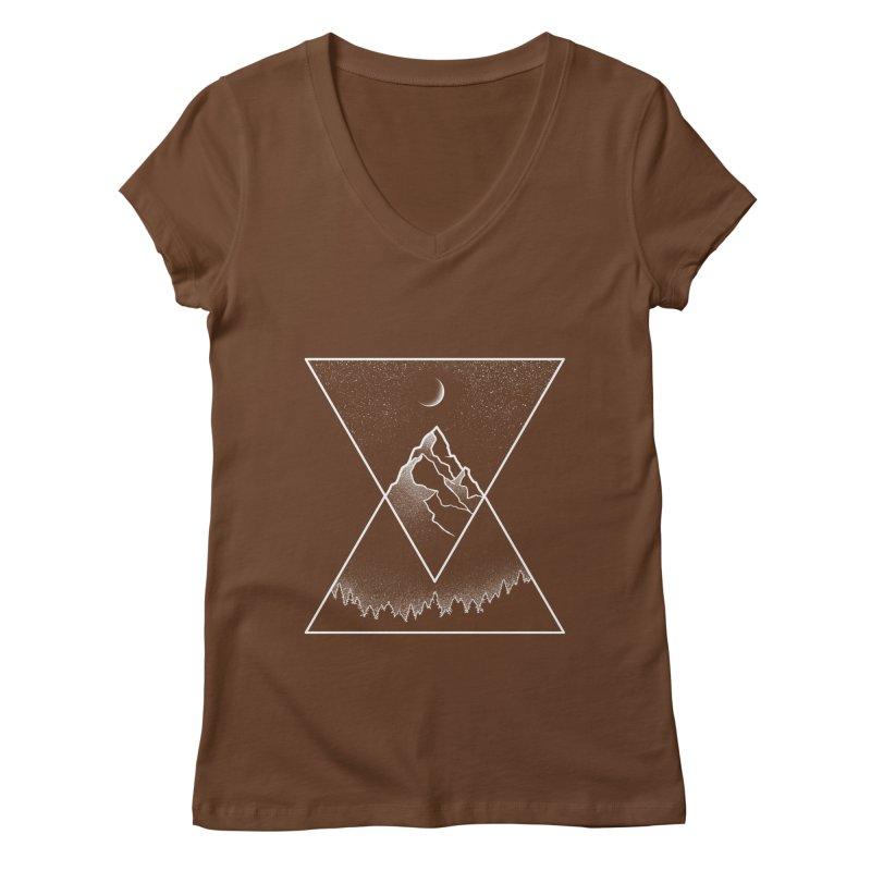 Pyramidal Peaks Women's Regular V-Neck by Dianne Delahunty's Artist Shop
