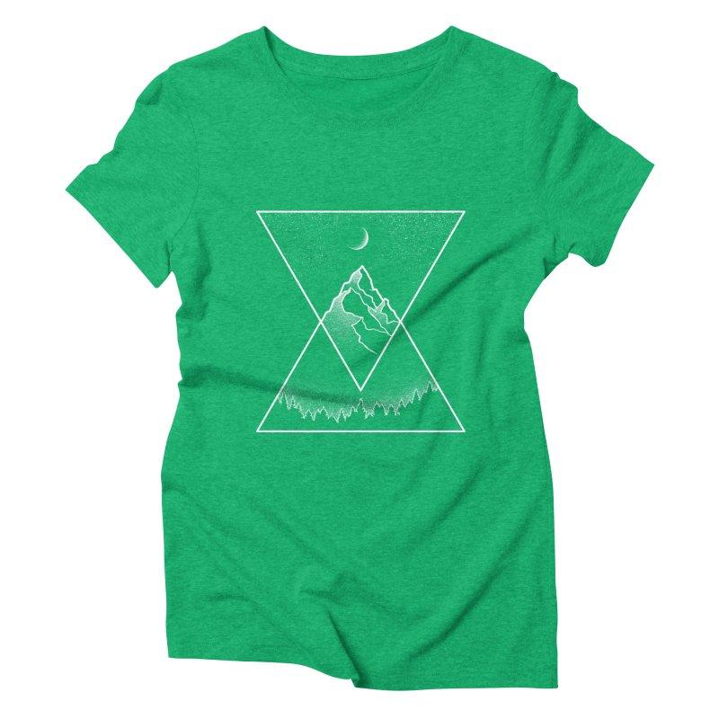 Pyramidal Peaks Women's Triblend T-Shirt by Dianne Delahunty's Artist Shop