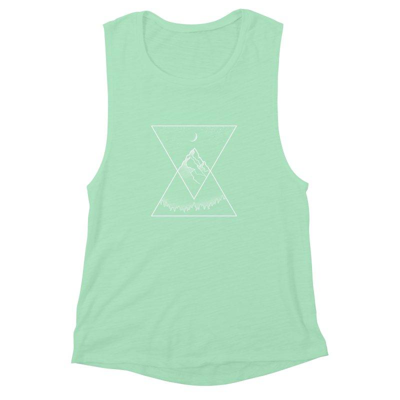 Pyramidal Peaks Women's Muscle Tank by Dianne Delahunty's Artist Shop