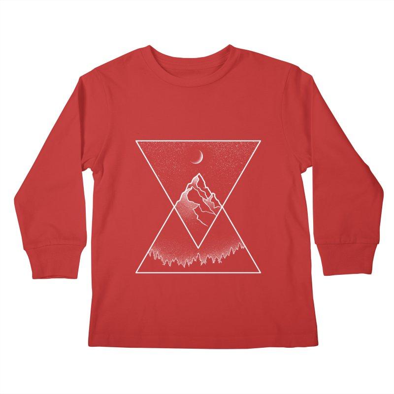 Pyramidal Peaks Kids Longsleeve T-Shirt by Dianne Delahunty's Artist Shop