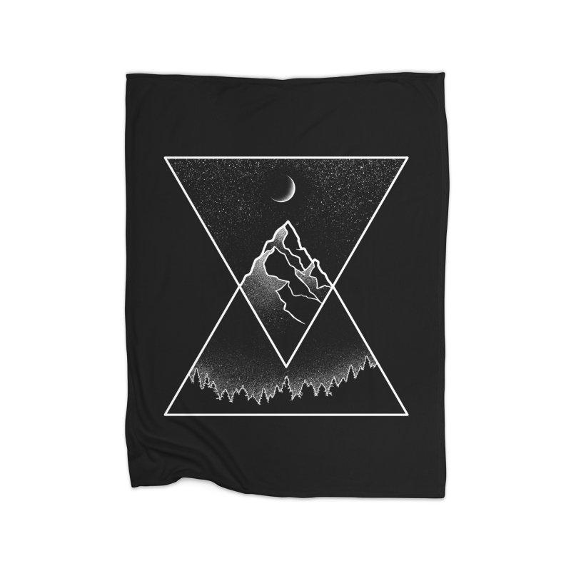 Pyramidal Peaks Home Blanket by Dianne Delahunty's Artist Shop