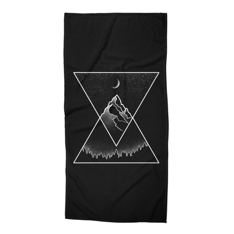 Pyramidal Peaks Accessories Beach Towel by Dianne Delahunty's Artist Shop