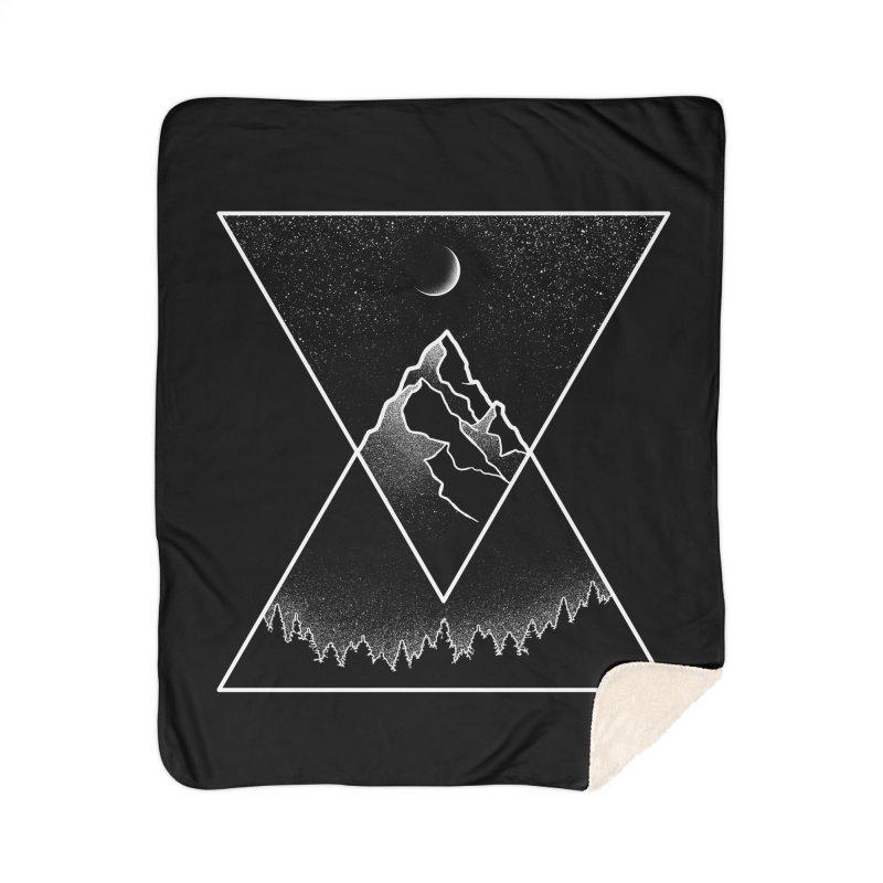 Pyramidal Peaks Home Sherpa Blanket Blanket by Dianne Delahunty's Artist Shop