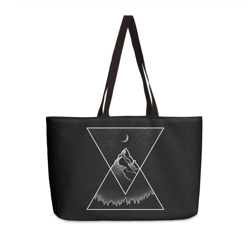 Pyramidal Peaks Accessories Weekender Bag Bag by Dianne Delahunty's Artist Shop