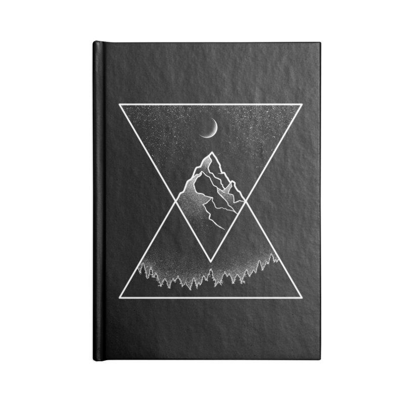 Pyramidal Peaks Accessories Lined Journal Notebook by Dianne Delahunty's Artist Shop