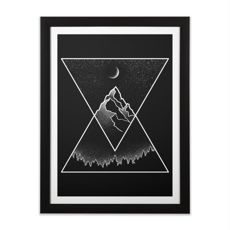 Pyramidal Peaks Home Framed Fine Art Print by Dianne Delahunty's Artist Shop