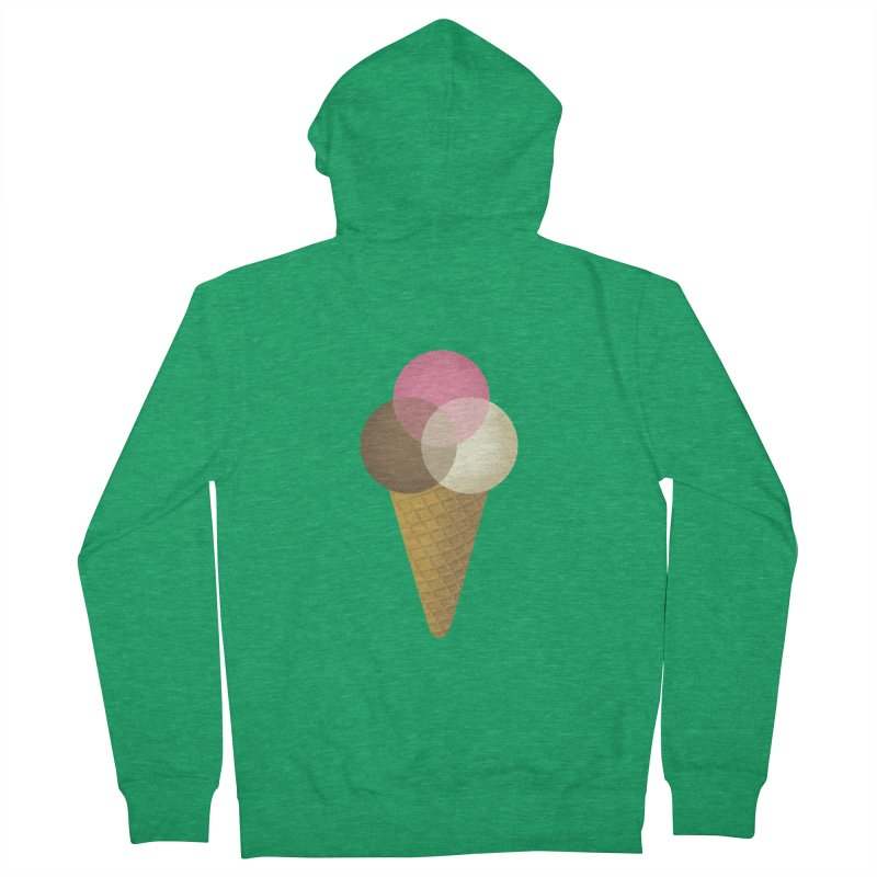Ice Cream Venndor Women's Zip-Up Hoody by Dianne Delahunty's Artist Shop