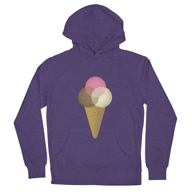 Ice Cream Venndor Women's French Terry Pullover Hoody by Dianne Delahunty's Artist Shop