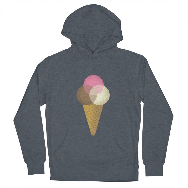 Ice Cream Venndor Men's French Terry Pullover Hoody by Dianne Delahunty's Artist Shop