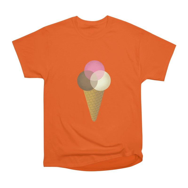 Ice Cream Venndor Women's Heavyweight Unisex T-Shirt by Dianne Delahunty's Artist Shop