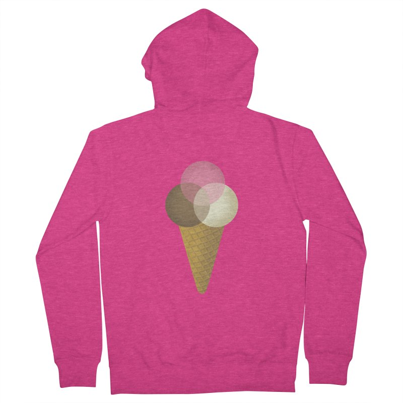 Ice Cream Venndor Women's French Terry Zip-Up Hoody by Dianne Delahunty's Artist Shop