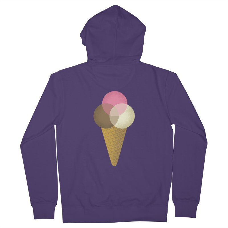Ice Cream Venndor Women's French Terry Zip-Up Hoody by Dianne Delahunty's Artist Shop