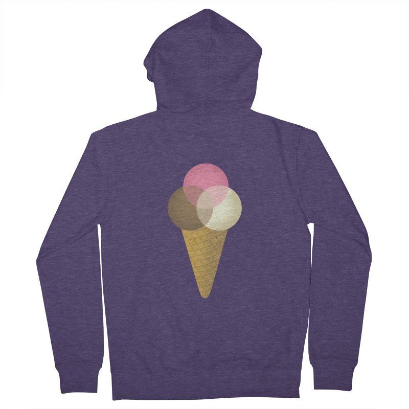 Ice Cream Venndor Men's French Terry Zip-Up Hoody by Dianne Delahunty's Artist Shop