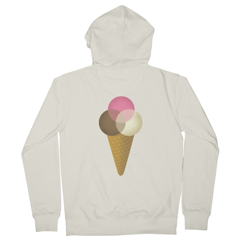 Ice Cream Venndor Men's French Terry Zip-Up Hoody by Dianne Delahunty's Artist Shop