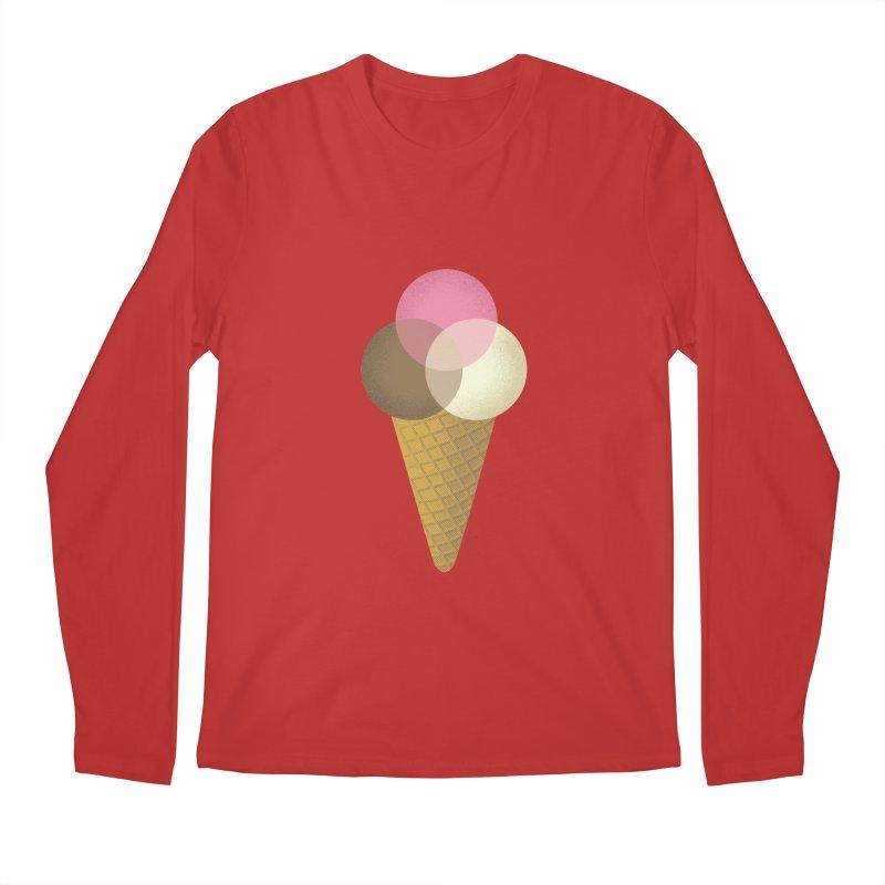 Ice Cream Venndor Men's Regular Longsleeve T-Shirt by Dianne Delahunty's Artist Shop