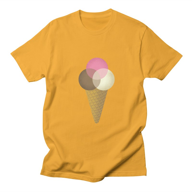 Ice Cream Venndor Men's Regular T-Shirt by Dianne Delahunty's Artist Shop
