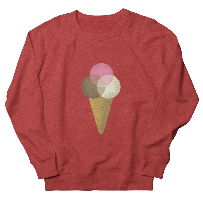 Ice Cream Venndor Women's French Terry Sweatshirt by Dianne Delahunty's Artist Shop