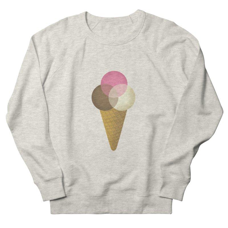 Ice Cream Venndor Women's French Terry Sweatshirt by Dianne Delahunty's Artist Shop